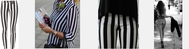 zwart wit broek