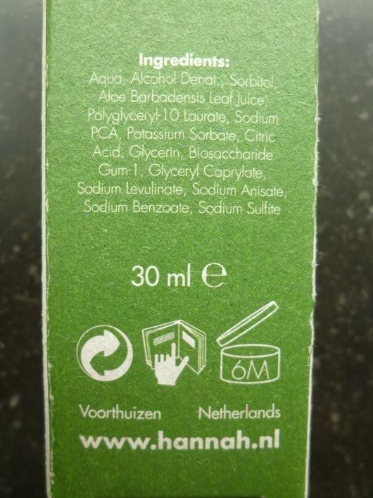 ingredientenspray