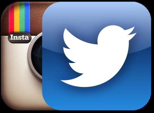 Instagram en twitter